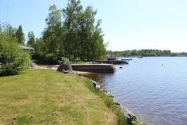 Suoraan edessä näkyy Västervikin venesatama, minne matkaa n 400 m