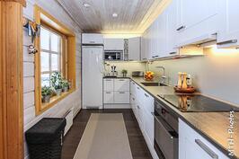 Tyylikäs ja moderni keittiö.