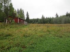 Autotalli + peltoa