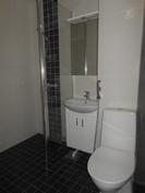 Tyylikkäästi uusittu, täysin kaakeloitu kylpyhuone