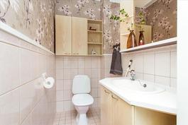 wc, talossa kaksi kaunista