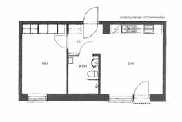 Hyvä pohja ja tilavat huoneet