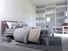 Visualisointikuva makuuhuoneesta