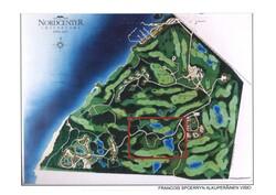 Golfbungalows, myytävän alueen sijainti Nordcenterissä