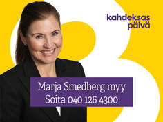 Ota yhteyttä marja.smedberg@kahdeksas.fi / 040 126 4300