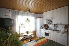Uudemman mökin keittiö