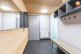 Yhteisten saunatilojen puhkuhuone