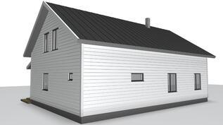 Talon julkisivu toteutetaan perinnetyylillä