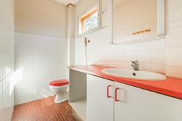 Erillinen wc kylpyhuoneen vieressä
