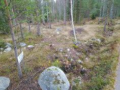 Määräala Malmgårdintien laitaa, tasaista maastoa - Gräns mot Malmgårdsvägen
