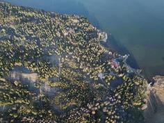 Ilmakuva lännestä - Luftbild från väster