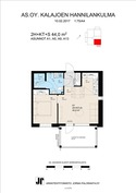 Rahatie 3A13 44 m2 pohjakuva