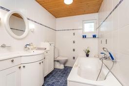 Pesuhuoneessa on tilaa...