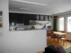 Keittiö olohuoneesta