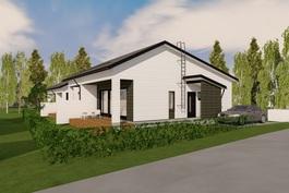 3-D kuva talosta
