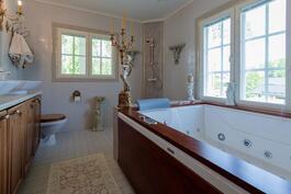 Mastermakuuhuoneen kylpyhuone