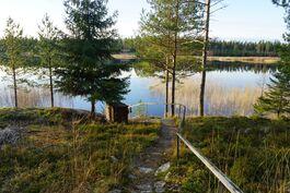 Luontoa myötäilevät portaat rantaan