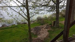 näkymä rantamökin terassilta