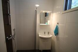 Pesuhuone; suihku, peili, allas ja allaskaappi