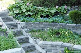 Kauniita kivetyksiä puutarhassa