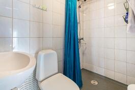 Piharakennuksen kylpyhuone