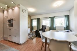 Erillisen asunnon olohuone