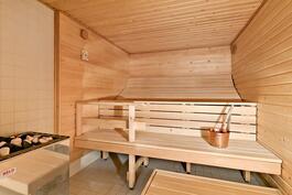 Sauna, jossa viihtyy