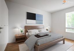 Makuuhuone 1 - Virtuaalisisustettu