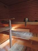 Sauna sisätiloissa