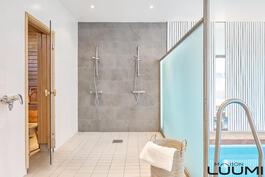 kylpyosasto on uusittu moderniksi