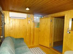 sauna ja oleskelutila.