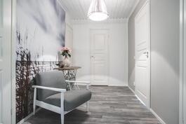 Rauhoittava tila yläkerran aulassa