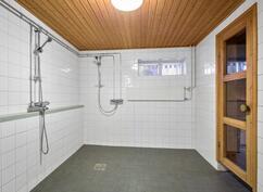 kelllarikerroksen kylpyhuone / kellarvåningens badrum