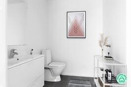 Alakerran tilava wc, mahdollista lisätä suihku