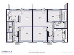 Pohjakuvassa asunnot 50 m2 ja 68 m2