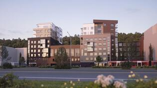 Visualisointikuva Santalahdenpuistosta (raitiotien 2-vaiheella on kaupungin suunnittelupäätös)