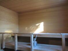 Komeaksi juuri remontoidussa saunassa mainio ...