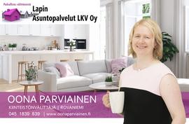 Oona Parviainen myy asuntosi Rovaniemellä.