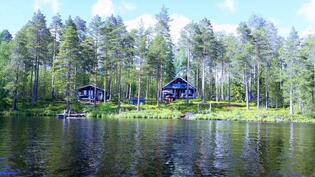 Koukkarinlahti järveltä - Cottage from the lake