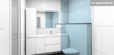 Pesuhuoneen kalusteiden havainnekuva