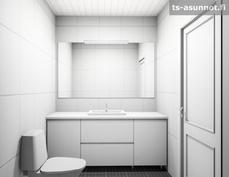 Erillisen wc:n kalusteiden havainnekuva