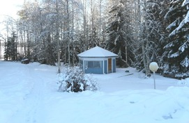 huvimaja, talvi