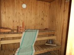 Alakerran sauna.
