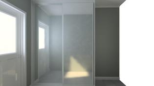 Havainnekuva makuuhuoneen peilikaapeista