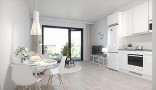 Havainnekuva on asunnosta B69, 1h+kt, 32,5 m2.