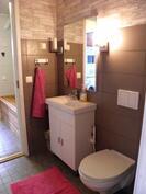 Tyylikäs wc-tila remontoitu vuonna 2013.