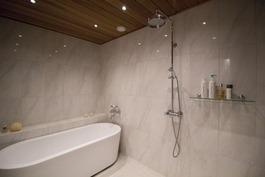 kylpyhuoneessa suihku sekä amme