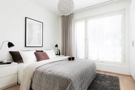 Kalustettu malliasunto A18, makuuhuone