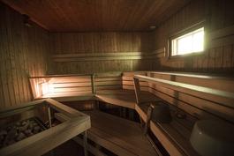 Piharakennuksen iso sauna