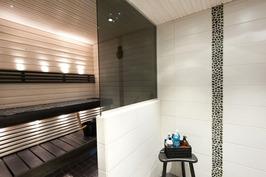 Uusittu kylpyhuone ja sauna